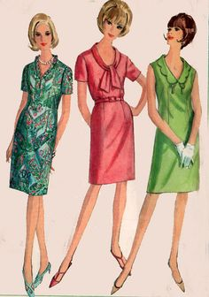 Vintage 60s Sewing Pattern Simplicity 5037 MADMEN by sandritocat, $13.00