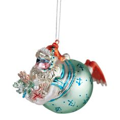 Diving fat Father Christmas glass bauble Father Christmas, Christmas Baubles, Diving, Holiday Decor, Glass, Papa Noel, Christmas Ornaments, Scuba Diving, Drinkware