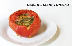 12 Simple Breakfast Recipes for The Everygirl: Even quicker backed egg in tomato #theeverygirl