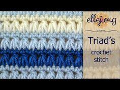 Triads Crochet Stitch | Free Crochet Tutorials, Instructions and Patterns