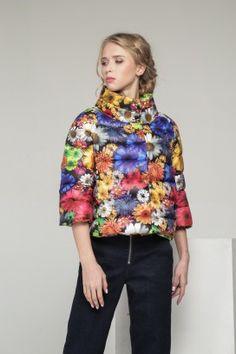 Куртка С-10д Цветы Миланова