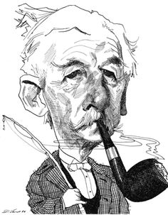 William Faulkner by David Levine Portraits, Portrait Art, Satire, William Faulkner Quotes, Smoking Images, Literary Characters, Celebrity Caricatures, American Artists, Line Drawing