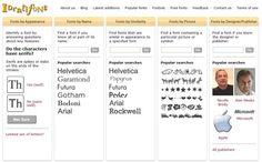 Identifont, un buscador de tipografías con una sección de fuentes gratuitas para descargar