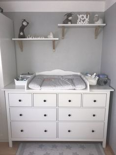 cozy changing place - changing top for the Ikea -Hemnes chest of drawers, many . - cozy changing place – changing top for the Ikea -Hemnes chest of drawers, thank you for the pictu - Baby Room Boy, Baby Bedroom, Baby Room Decor, Nursery Room, Girl Room, Girls Bedroom, Nursery Ideas, Ikea Baby Room, Baby Rooms