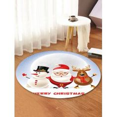 twinkledeals White Rug, White Area Rug, Christmas Rugs, Round Area Rugs, Carpet, Kids Rugs, 3d, Holiday Decor, Pattern