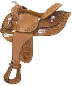 Bob Loomis Oak Leaf Show Reiner Saddle   ChickSaddlery.com