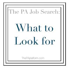 What to Look For When Searching for a Physician Assistant Job Physician Assistant Jobs, Pa Jobs, Pa School, Pa C, Family Practice, You Are Important, The Pa, Urgent Care, Looking For A Job