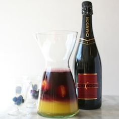 Spooky Sangria cocktail with Chandon sparkling red for you Haloween celebration!