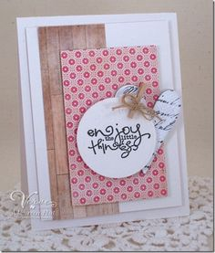Card by Maureen Plut using Let it Be from Verve Stamps.  #vervestamps