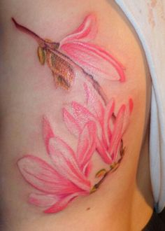 Soft lines. No lines. Delicate.  Water color tattoo.
