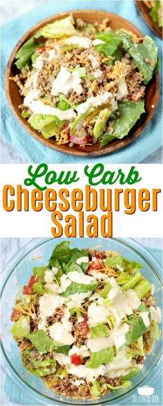 Low Carb Cheeseburger Salad recipe from The Country Cook #salad #recipes #lowcarb #ideas #groundbeef