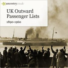 U.K. Outward Passenger Lists shows addresses, occupations, departure port, destination and even the ship they sailed on! Click image to search now.