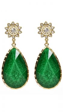 East Lake Earrings, Evergreen