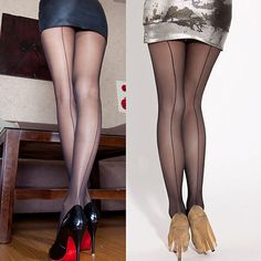 0f952e546a2 Sexy Women s Ultra Sheer Transparent Line Back Seam Tights Stockings  Pantyhose -in Tights from Women s Clothing   Accessories on Aliexpress.com