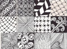 zentangle patterns | Zentangle Pattern Twinchies part 2 | Flickr - Photo Sharing! Doodle Patterns, Zentangle Patterns, Easy Zentangle, Doodles Zentangles, Zen Doodle, Art Boards, Doodle Art Journals, Scratch Art, Zen Art
