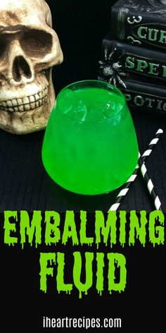 Embalming Fluid Cocktail This Embalming Fluid Cocktail will blow your mind. Just remember, this one is for ADULTS ONLY! Every time Halloween comes around, I always get a request for beverages Fruity Cocktails, Cocktail Drinks, Fun Drinks, Cocktail Recipes, Cocktail Tequila, Tequila Shots, Beverages, Juice Drinks, Summer Cocktails