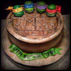 Gâteau tortues ninjas