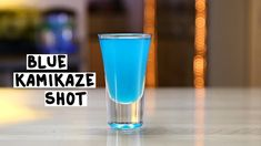 BLUE KAMIKAZE SHOT 1 Part Vodka 1 Part Blue Curaçao 1 Part Lime Juice PREPARATION 1. In an ice filled shaking glass combine vodka, blue curaçao and lime juice. Shake well. 2. Strain mix into shot glasses. DRINK RESPONSIBLY!