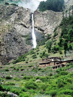 A beautiful Water Fall in Kalaam Valley, Swat.    Kalaam Valley is a valley along the upper reaches of the Swat River in Swat, Pakistan. Kalaam Valley is known for its waterfalls, lakes and lush green hills!