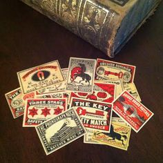 "Sage says, ""Thank you, Shenanigoddess, for spoiling me with these uber cool vintage matchbox labels!"""