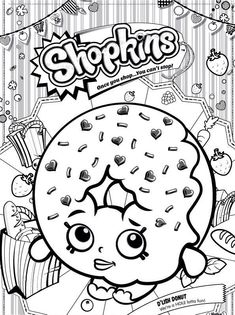 Shopkins Coloring Shopkin Pages Free Printable