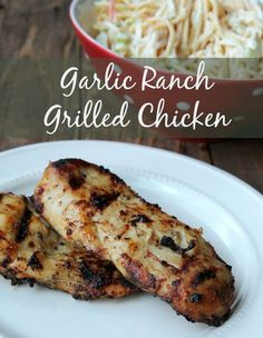 Garlic Ranch Grilled Chicken. Delicious make-ahead healthy lunch or dinner recipe. I like to make grilled chicken on the weekend to have for my salads all week.