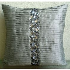 Handmade Silver Decorative Pillows Cover, Modern Decorati... https://www.amazon.com/dp/B005C1BTSO/ref=cm_sw_r_pi_dp_x_GdPryb2PVV9KD