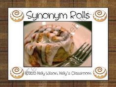 Synonym Rolls from Kelly's Classroom  on TeachersNotebook.com (10 pages)  - Synonym Rolls is a popular activity the teachers have used over the years to teach (You guessed it!) synonyms. There are many different versions of Synonym Rolls to choose from. My particular version of Synonym Rolls lends itself well to being used as a f