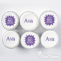 Best Big Sister Cupcake Gift Box