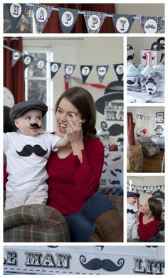 Little Man Mustache 1st Birthday Party if I have a son this will be his party theme!
