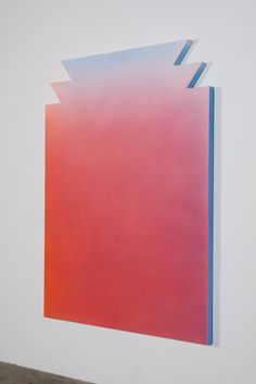 Peres Projects - ALEX ISRAEL Untitled (Flat), 2012  Acrylic on stucco, wood and aluminum frame  213.4 x 152.4 cm (84 x 60 inches)