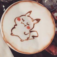 #pikachu 進步了一咪咪咪咪 - 又快樂的過完一天了 #latte #latteart #cafelatte #cafe #cafelife #coffeetime #coffee #coffeelife #coffeelover #coffeeart #coffeelovers #coffeelatte # #kmemory #keepmemories by peilin_1123