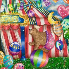 Circus! Libro: Romantic Country first tale. Hecho con: prismacolor premier 72, stabilo 88 y pluma de gel blanca. #romanticcountry #romanticcountrycoloringbook #eriy#coloring #coloringtherapy #coloringbook #coloringforgrownups #artecomoterapia#circus#coloring_secrets#coloring_masterpieces#prismacolorpremier#stabilo88#bear#beautifulcoloring
