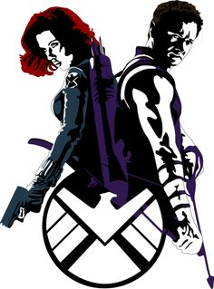 Black Widow and Hawkeye by Mad42Sam.deviantart.com on @deviantART