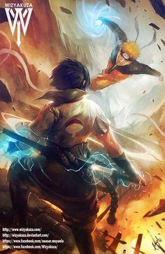 Naruto and Sasuke final battle
