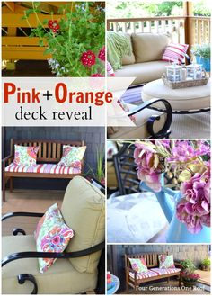 Pink + orange deck reveal. @Four Generations One Roof