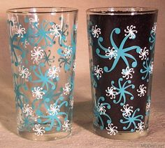 Love these Blue Pinwheel Swig Jelly Glasses
