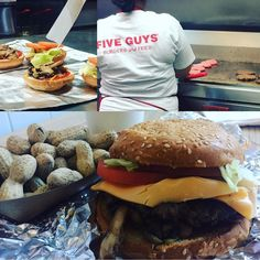 Almost as tasty as #homemade.  @fiveguys_burgers Vancouver.  #burger #burgertime #hamburger #fiveguys #meat #beef #allnatural #eatmycities #carnivore #food #foodie #vancouver