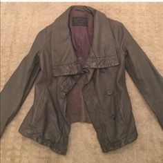 All Saints Brown Leather Jacket All Saints Brown Leather Jacket in perfect condition with no rips, stains or tears. This is the perfect addition to any wardrobe. (I had planned to wear this for an event but the postal service took an extra month to deliver it! My loss is your gain!) All Saints Jackets & Coats