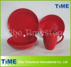 Ceramic Stoneware Luxury Red Dinnerware on Made-in-China.com