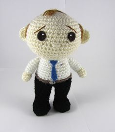 Amigurumi Business Man - Crochet Doll - Allan the Stressed Business Man Crochet Toy - Office Worker Gift - Gift for Him - Crochet Doll OOAK