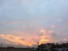 Zonsondergang februari 2014