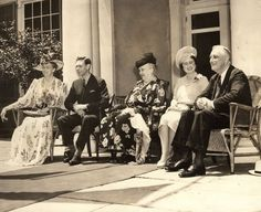 """George VI White House Visit (as soon to be portrayed in """"Hyde Park on the Hudson"""")."""