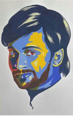 Self potrait (poster colours on paper)