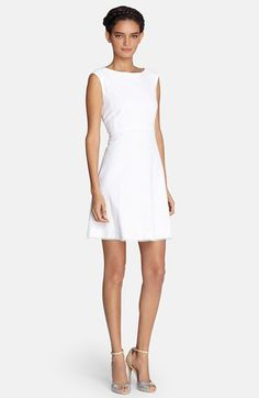 Size 2P $128.00 Tahari+Textured+Cotton+Fit+&+Flare+Dress+(Regular+&+Petite)+available+at+#Nordstrom