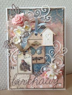 "Riddersholm Design: ""BARN MARKET"" BIRTHDAY CARD"