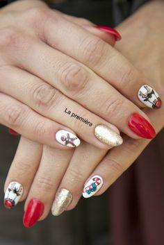gingerbread nails :D