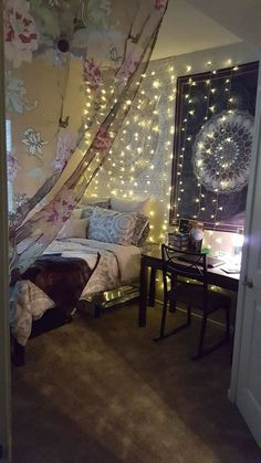 Including a llama pillow, cute cat pens, and a wacky waving inflatable tube man. Matching Bedding And Curtains, Bed Curtains, Llama Pillow, Cozy Bed, Dorm Bedding, Home Studio, Fairy Lights, Luxury Bedding, Floor Pillows
