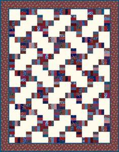 4th of July Road Strip Quilt Design | FaveCrafts.com