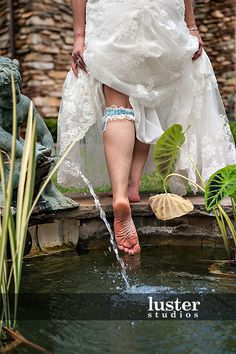 obviously this is a wedding, but garter from the back would be a creative way to pose it. without the water aspect Picture Ideas, Photo Ideas, Wedding Pictures, Wedding Ideas, Wedding First Look, Wedding Events, Weddings, Event Photographer, Photojournalism